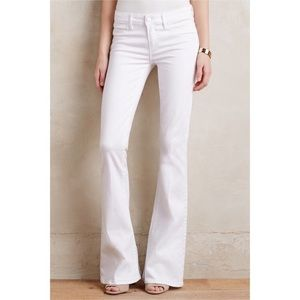 Paige white flare jeans in size 26